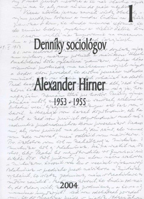 Denníky sociológov 1 - 1953-1955