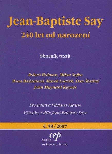 Jean-Baptiste Say - 240 let od narození