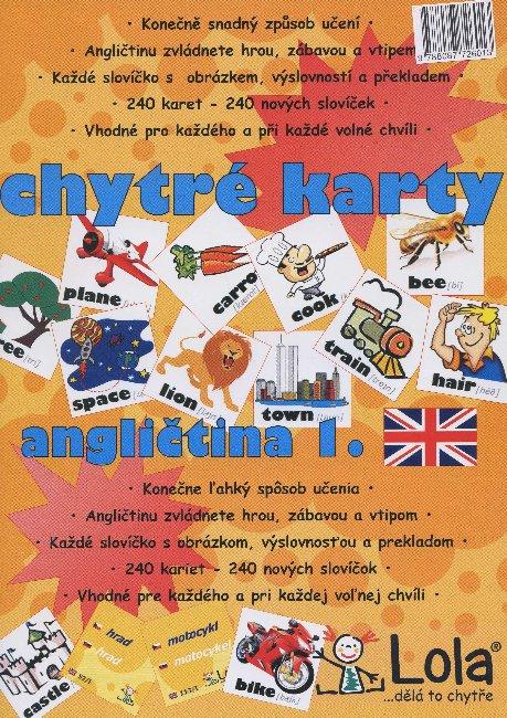 Chytré karty: Angličtina slovička 1