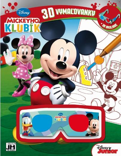 3D vymaľovanky - Mickeyho klubík - + 3D okuliare