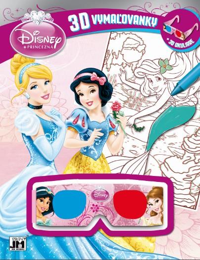 3D vymaľovanky - Princezná - + 3D okuliare