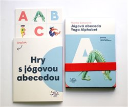 Jógová abeceda / Yoga Alphabet (1x sada karet, 1x sešitová příloha) - 26 karet s hravými cviky ve tvaru písmen