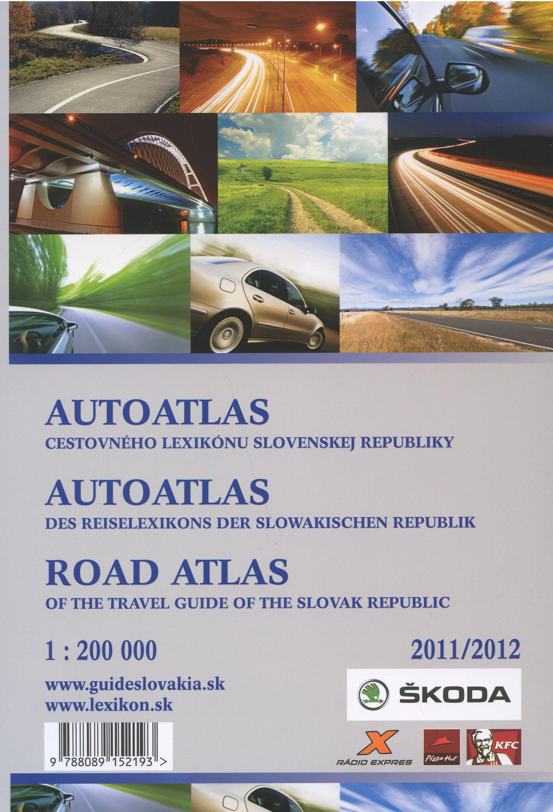 AutoAtlas cestovneho lexikonu Slovenskej Republiky 2011/2012 - trojjazycká mapa