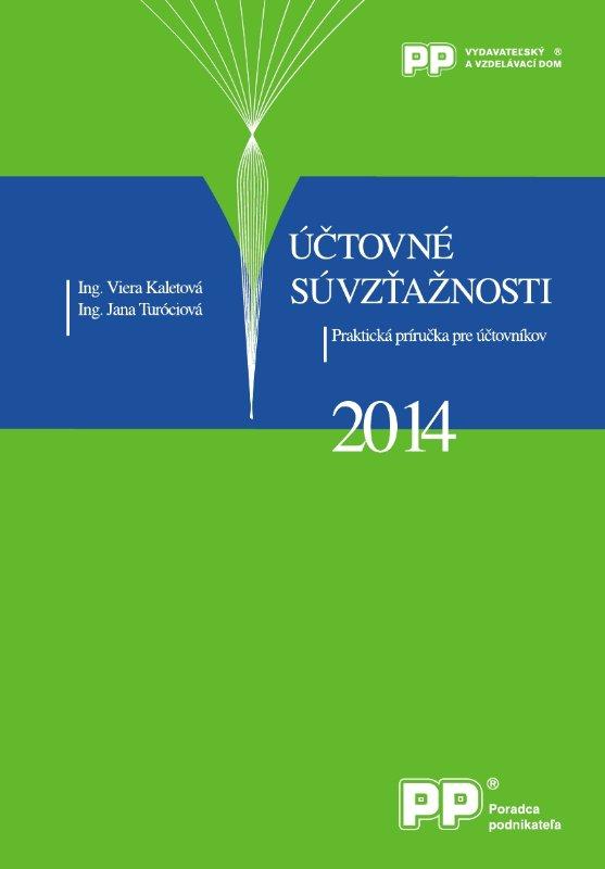 Účtovné súvzťažnosti 2014