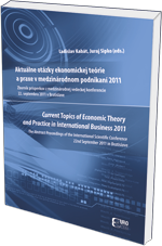Aktuálne otázky ekonomickej teórie a praxe v medzinárodnom podnikaní 2011