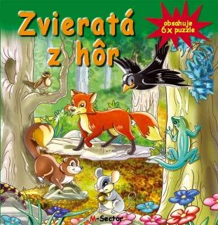 Zvieratá z hôr-6x puzzle - Obsahuje 6x puzzle