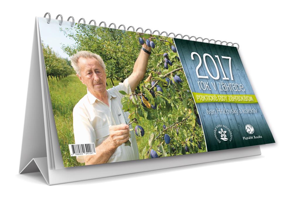 Kalendár 2017  - Rok v záhrade - stolový kalendár