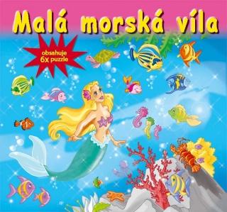 Malá morská víla-6x puzzle