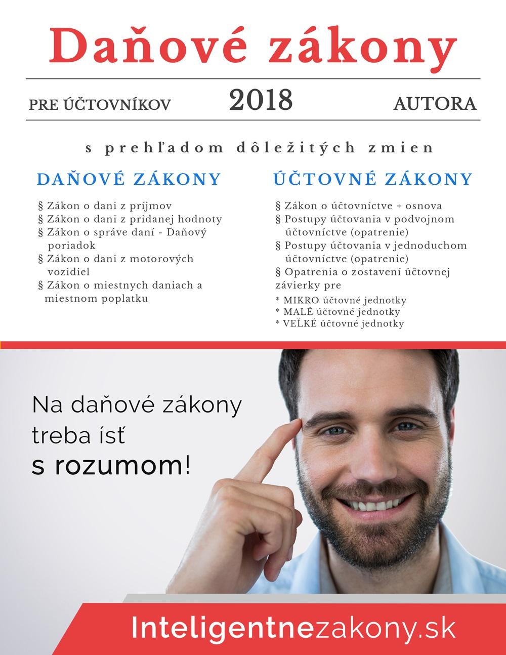Daňové zákony 2018 pre účtovníkov - s prehľadom dôležitých zmien