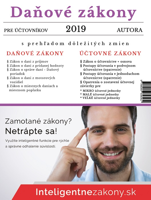 Daňové zákony 2019 pre účtovníkov