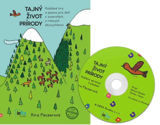 Tajný život prírody + CD - Hudobné hry a piesne pre deti o zvieratách z rôznych ekosystémov