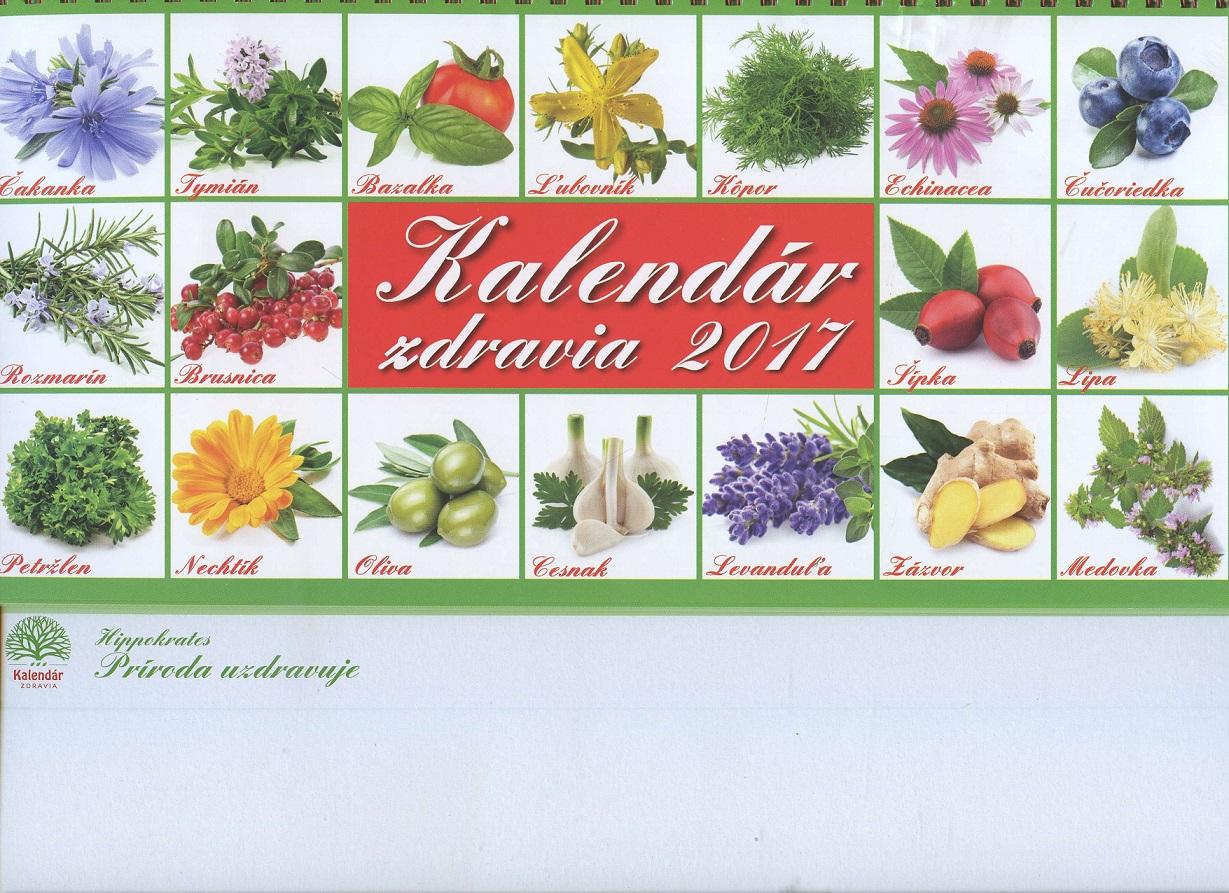 Kalendar zdravia 2017 - stolový kalendár