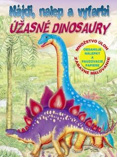 Nájdi, nalep a vyfarbi - Úžasné dinosaury