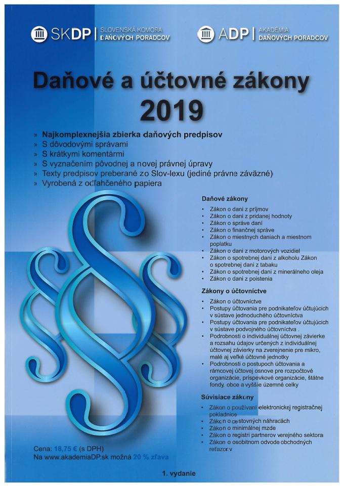 Daňové a účtovné zákony 2019