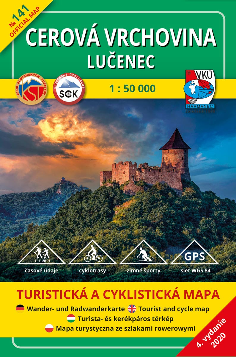 Cerová vrchovina - Lučenec 1:50 000 (4.vydanie) - Turistická a cyklistická mapa