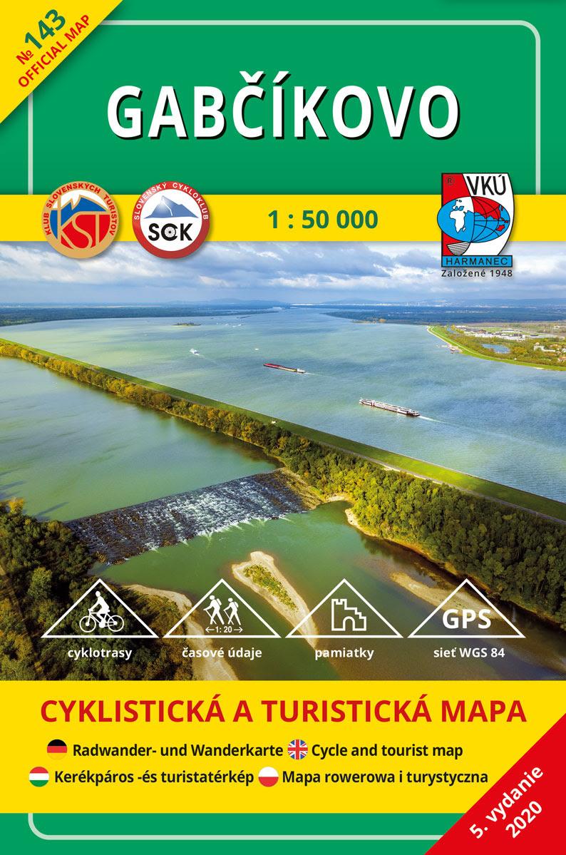 Gabčíkovo 1:50 000 (5.vydanie) - Turistická a cyklistická mapa