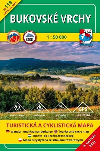 Bukovské vrchy 1:50 000 (5.vydanie) - Turistická a cyklistická mapa