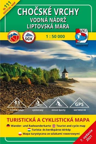 Chočské vrchy - vodná nádrž Liptovská Mara 1:50 000 (7.vydanie) - Turistická a cyklistická mapa