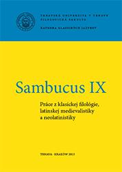 Sambucus IX - Práca z klasickej filológie, latinskej medievalistiky a neolatinistiky