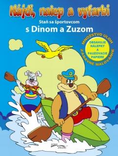 Nájdi, nalep a vyfarbi - Staň sa športovcom s Dinom a Zuzom